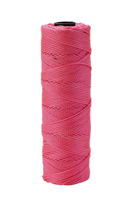 Mutual Industries 14661-175-275 Nylon Mason Twine, 1/4 lb. Twisted, 18 x 275', Glo Pink (Pack of 6)