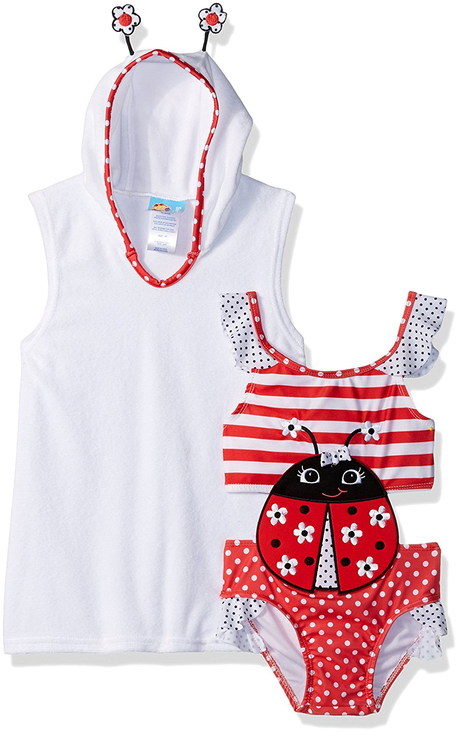 4a1f7a5ddc940 Get Quotations · Baby Buns Toddler Girls  Little Lady Terry Cover-up Swim  Set