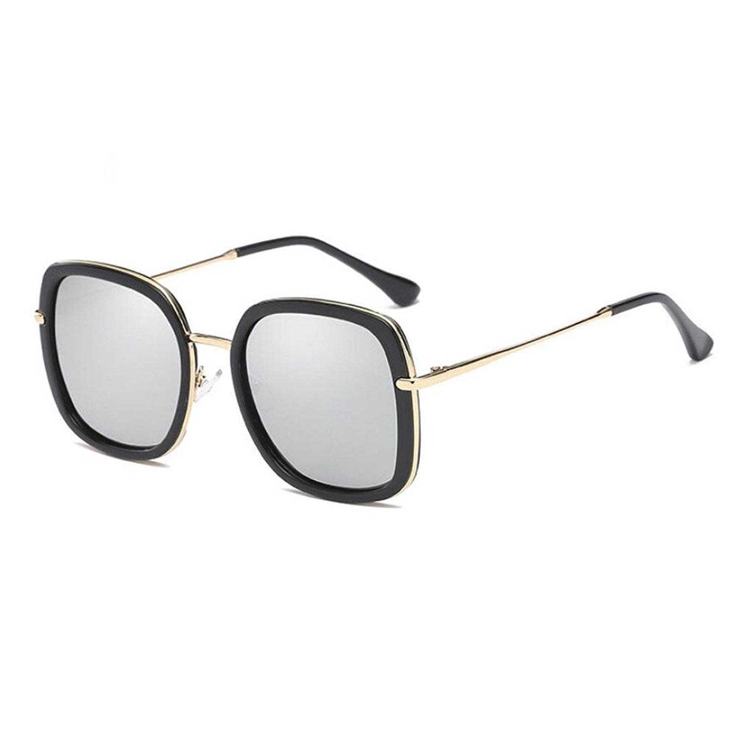 579e4bef73 Get Quotations · GAMT Polarized Wayfare Sunglasses With Square Fram Metal  Arm Mirror Lens For Men And Women Fashionable