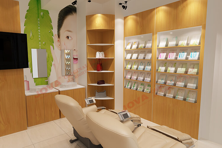 Original Design Custom Work Cosmetic Shop Interior Design For Skin Care Product Display