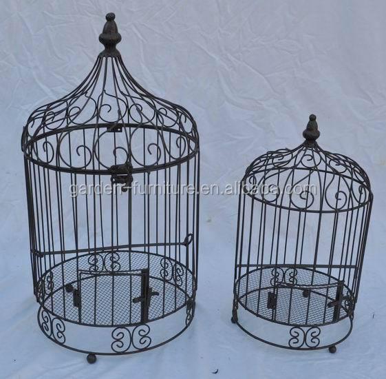 Handicraft Vintage Hanging With Stand Parakeet Birdage