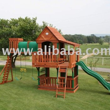 Wood Bridge Wooden Swing Set Playhouse Buy Playhouse Product