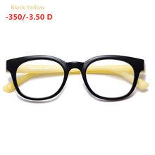 Готовые Очки для близорукости для мужчин и женщин, овальная оправа из поликарбоната, прозрачные линзы, очки по рецепту для старшей школы-1-1,...(Китай)
