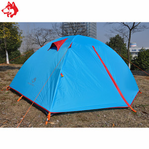8.5mm aluminum pole hiking tents two people double layer waterproof tent winter single camping tent