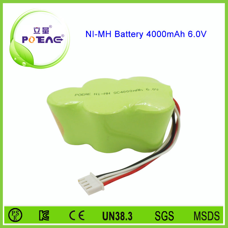 Low price 6v 4000mah rechargeable nimh prismatic battery
