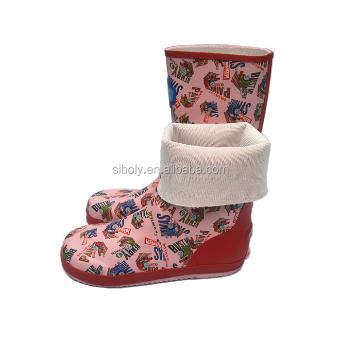 Wholesale High Quality Kids Ankle Boots Rubber Rain Boots