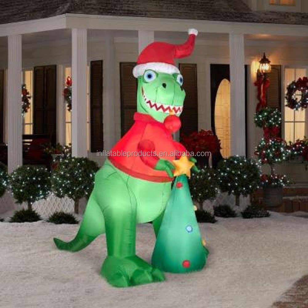 christmas inflatable 8 12 ft tall t rex airblown yard prop buy inflatable yardinflatable t rexinflatable christmas snowman family product on alibaba