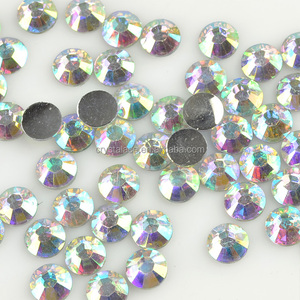 Factory Wholesale Crystal AB Flat Back Resin Stone, Flatbck Resine Rhinestone, Non Hotfix Epoxy Stone with Flat Back