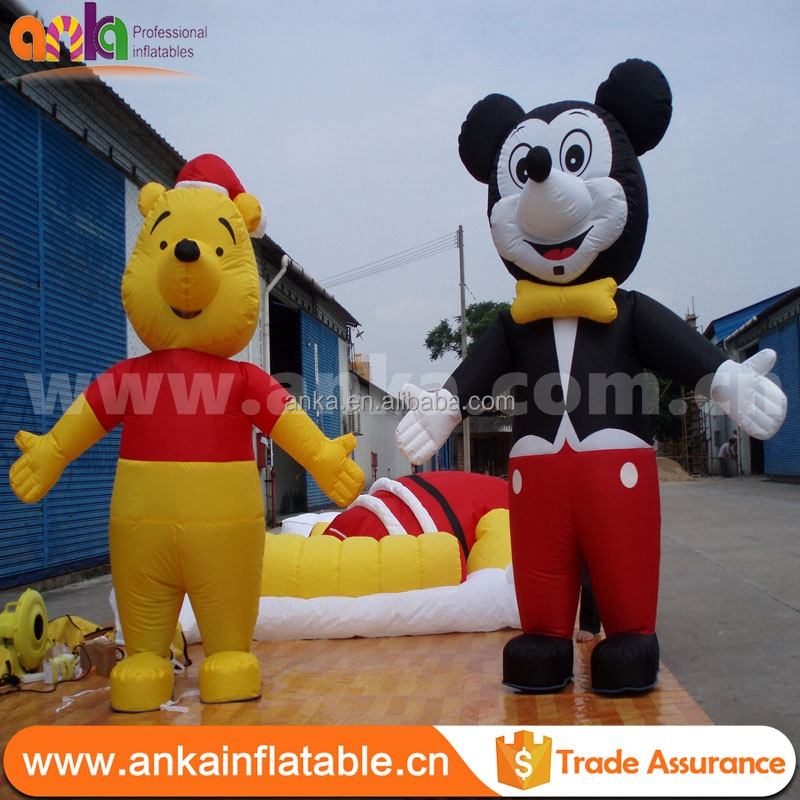 2017 New design customized giant advertising products inflatable cartoon monkey for sale