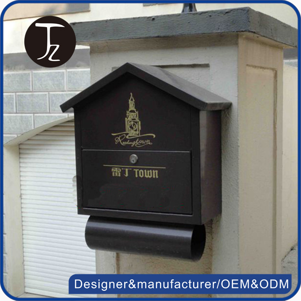 Customized wrought post box waterproof mailbox in the american style modern mailbox