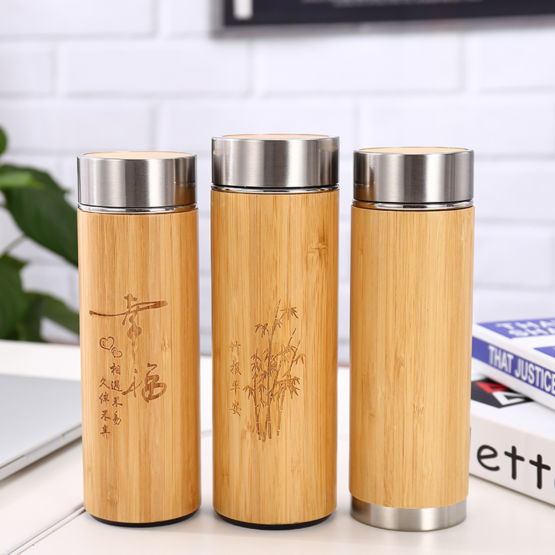Stainless Steel Bamboo Coffee Tumbler,Bamboo Tumbler With Tea Infuser & Strainer,Bamboo Lid Tumbler фото