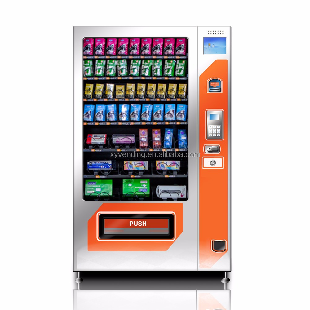 Cell phone and accessory vending machine with free wireless management, GPRS module for 2G3G4G sim card