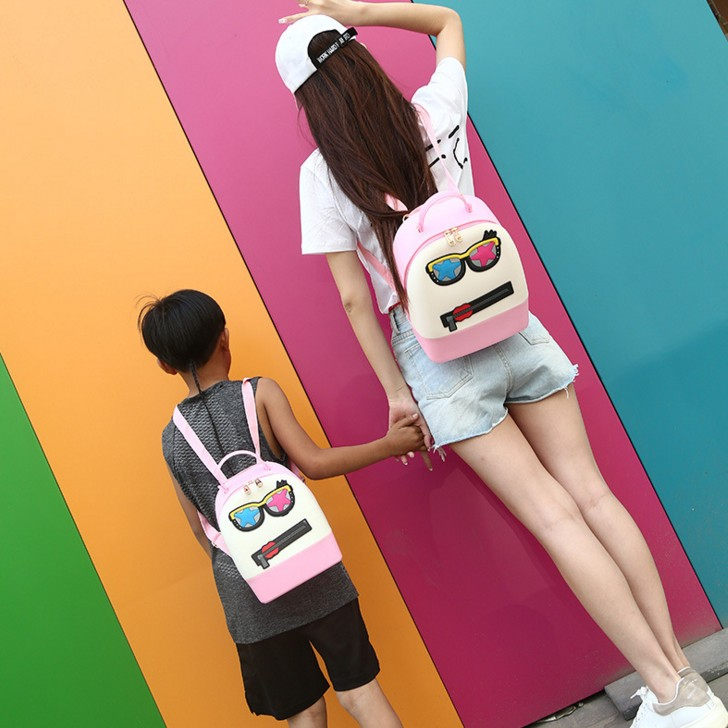 Dropshipping High Quality Female And Kids Cute Mini Candy Colors Jelly Silicone Backpack