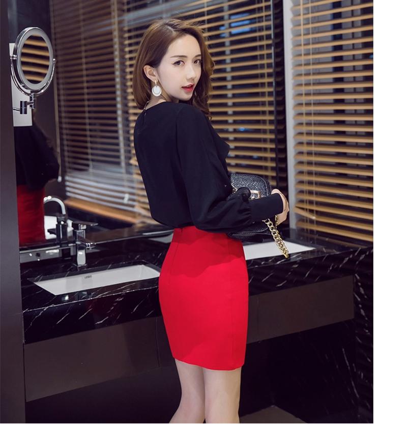 427d1baeadd5a 2019 S 5XL Plus Size Black Pencil Skirt Summer 2018 Bodycon High ...