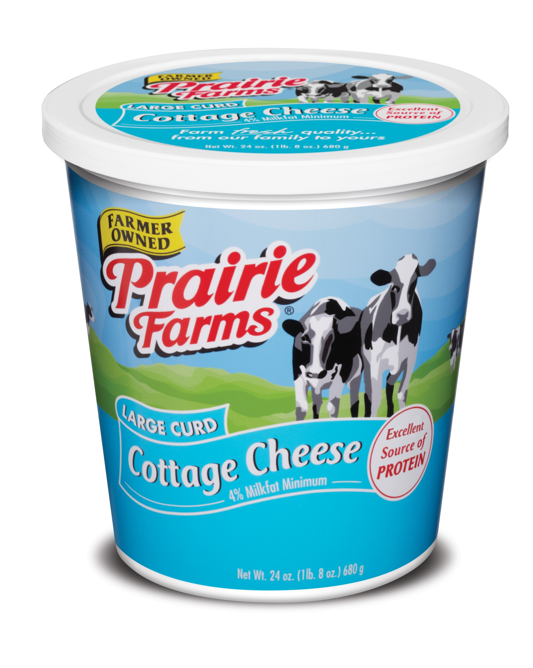 Prairie Farms Dairy Cottage Cheese Large Curd, 24 oz