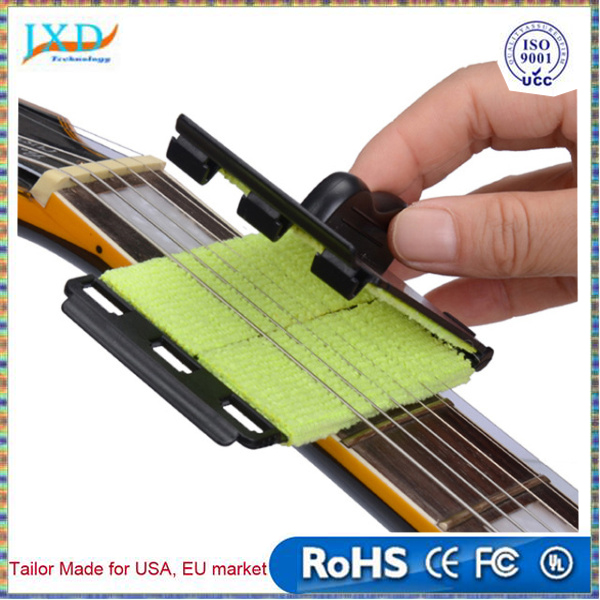 Acoustic Electric Bass Guitar String Cleaner Ukulele Banjo Quick-Set Brush Tool for Stringed Musical Instruments