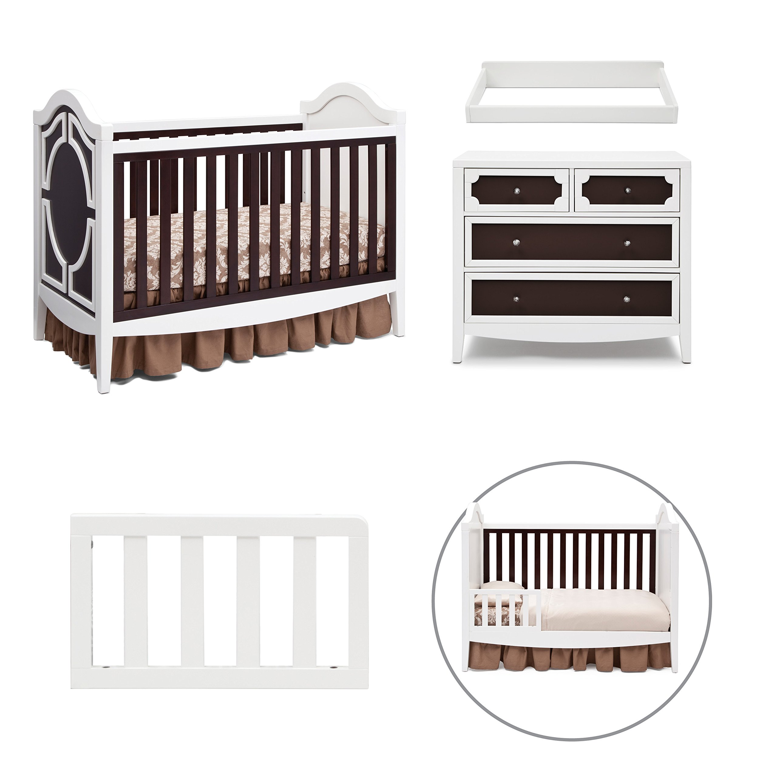 Simmons Kids Hollywood 4 Piece Nursery Furniture Set Including Free Baby Monitor Ships Separately