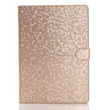 diamond bling rhinestone wallet case for ipad air 2 gliter power leather case