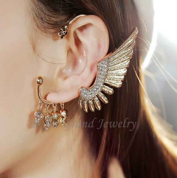 or aile d 39 ange bijou d 39 oreille cartilage boucles d 39 oreilles cr ne bijou d 39 oreille pour les. Black Bedroom Furniture Sets. Home Design Ideas