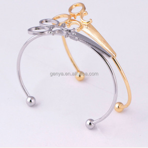 Simple Personality Silver Gold Scissors Bracelets Popular Women Bangles Anniversary Party Gift Decorate Accessory