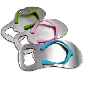 Wholesale custom mixed color metal flip flop bottle opener with logo
