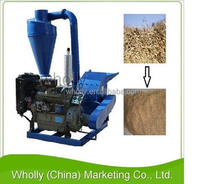 2015 Hot Selling Multifunctional straw sawdust wood chip grain hammer mill prices