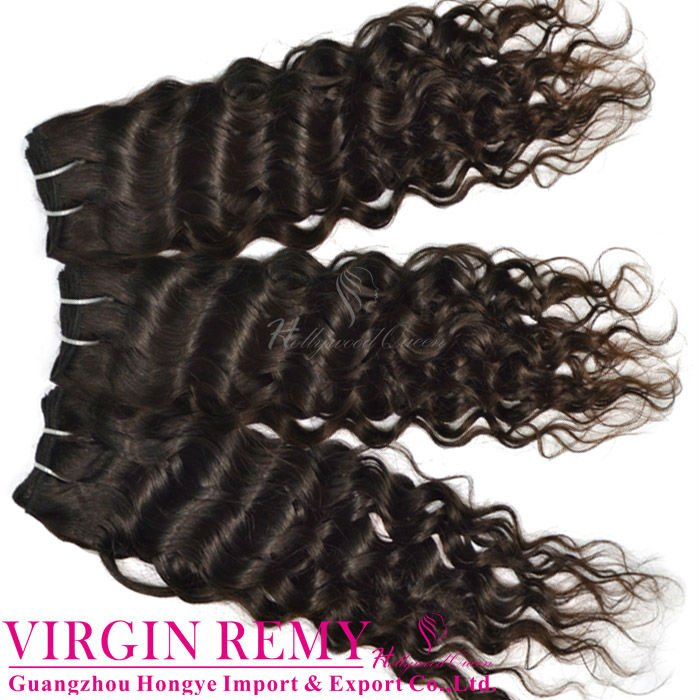 Brazilian human hair wet and wavy weave wholesale