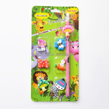 cheap giveaway stationery set for kids back to school pencil
