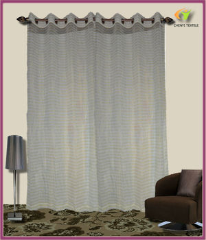 New Design Voile/yarn/sheer Curtain Gold Thread Shining Curtains Hot Sale