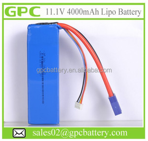 Lithium Polymer UAV Battery - Unmanned Aircraft Battery 11.1V 4000mAh 3S Light Weight 20C Discharge