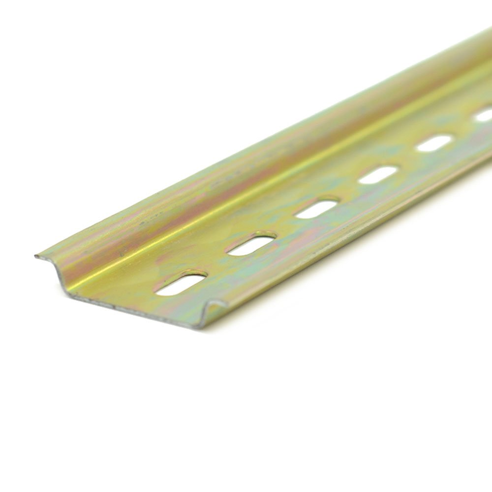 """PZRT Heavy Duty 1.2mm Thickness Slotted DIN Rail,300mm 12"""" Length 35mm Standard Width 7.5mm High, for Single Phase Switch Installing Fixed Solid State Relay"""