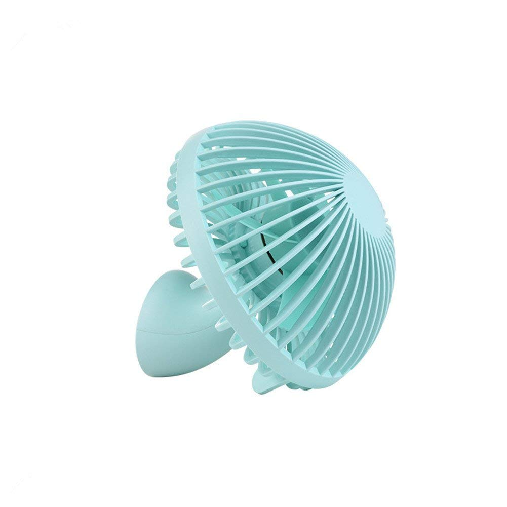 USB Desk Fan, Leagway Mini Portable Cooling Handheld Fans Innovative Mushroom Design Table Desktop Electric Fan for Office Home Outdoor, Super Quiet, Handheld Fan, Two Speeds, 4.9ft USB Cable (Green)