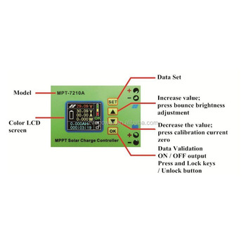 Mpt-7210a Lcd Display Mppt Solar Panel Charge Controller 24/36/48/60/72v  Boost - Buy Solar Panel Charge Controller,Lcd Boost Charger,Dc-dc Boost