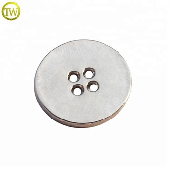Silver color Classic metal 4 holes metal button with brand logo engraved for shirt