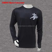 100 polyester quick dry men long sleeve t shirt