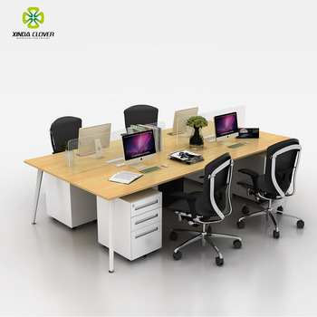2018 Affordable 6 Person Office Furniture Freedom With Gl Screen