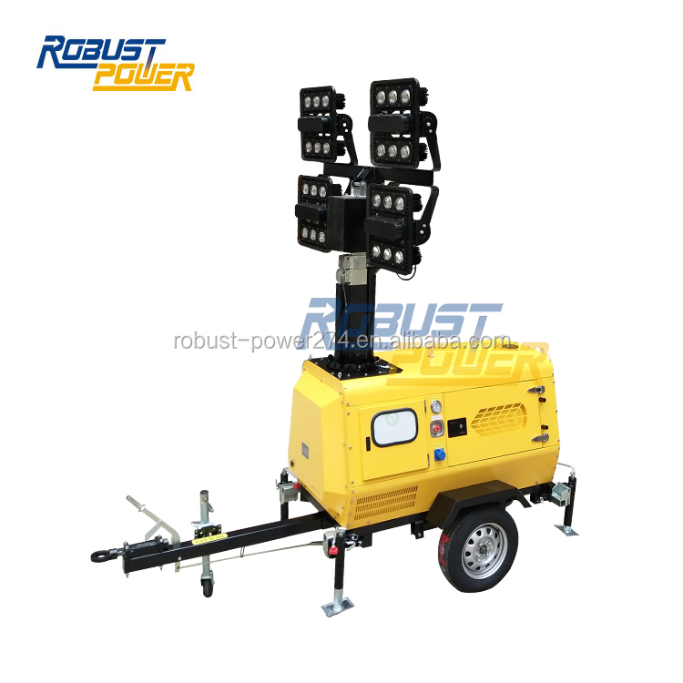 Soccer Field 8M Trailer Mounted Portable Stadium Light Towers