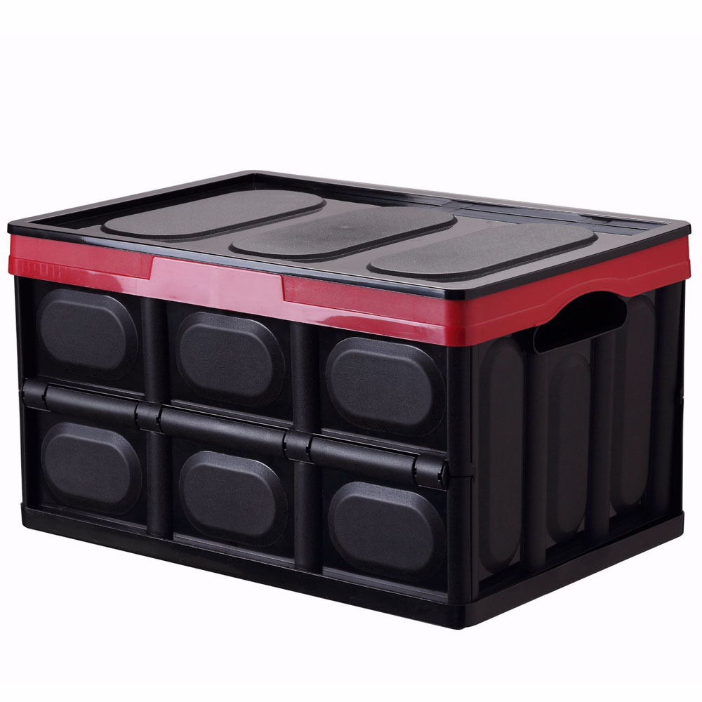 56L Sterke Plastic Travel Camping Thuis Inklapbare Voertuig SUV Auto Trunk Cargo Storage Container Box Organizer