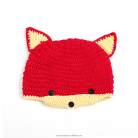 2016 Yiwu wholesale Red fox baby hat