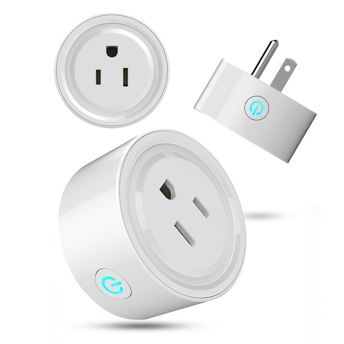 Top sale US standard round alexa google assistant WIFI smart power <strong>plug</strong>