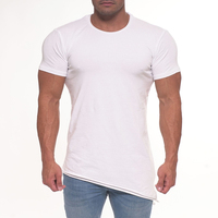 Cheaper Small MOQ Back longer Gym T shirt
