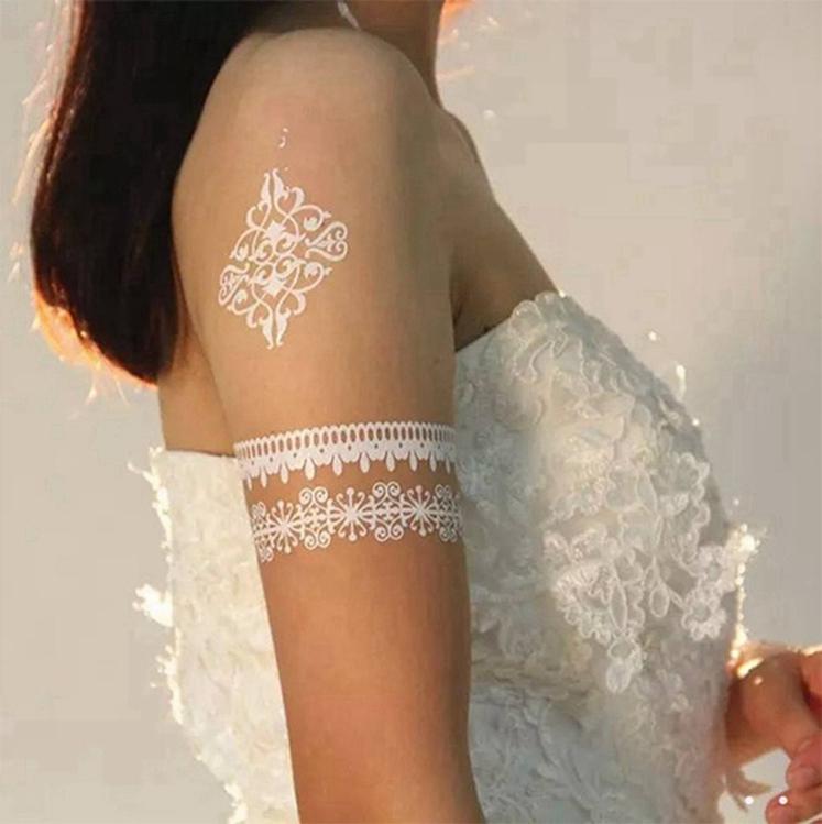 Populaire Eco-vriendelijke Tijdelijke Body Tattoo Papier Sticker Shimmer Glitter Tattoos