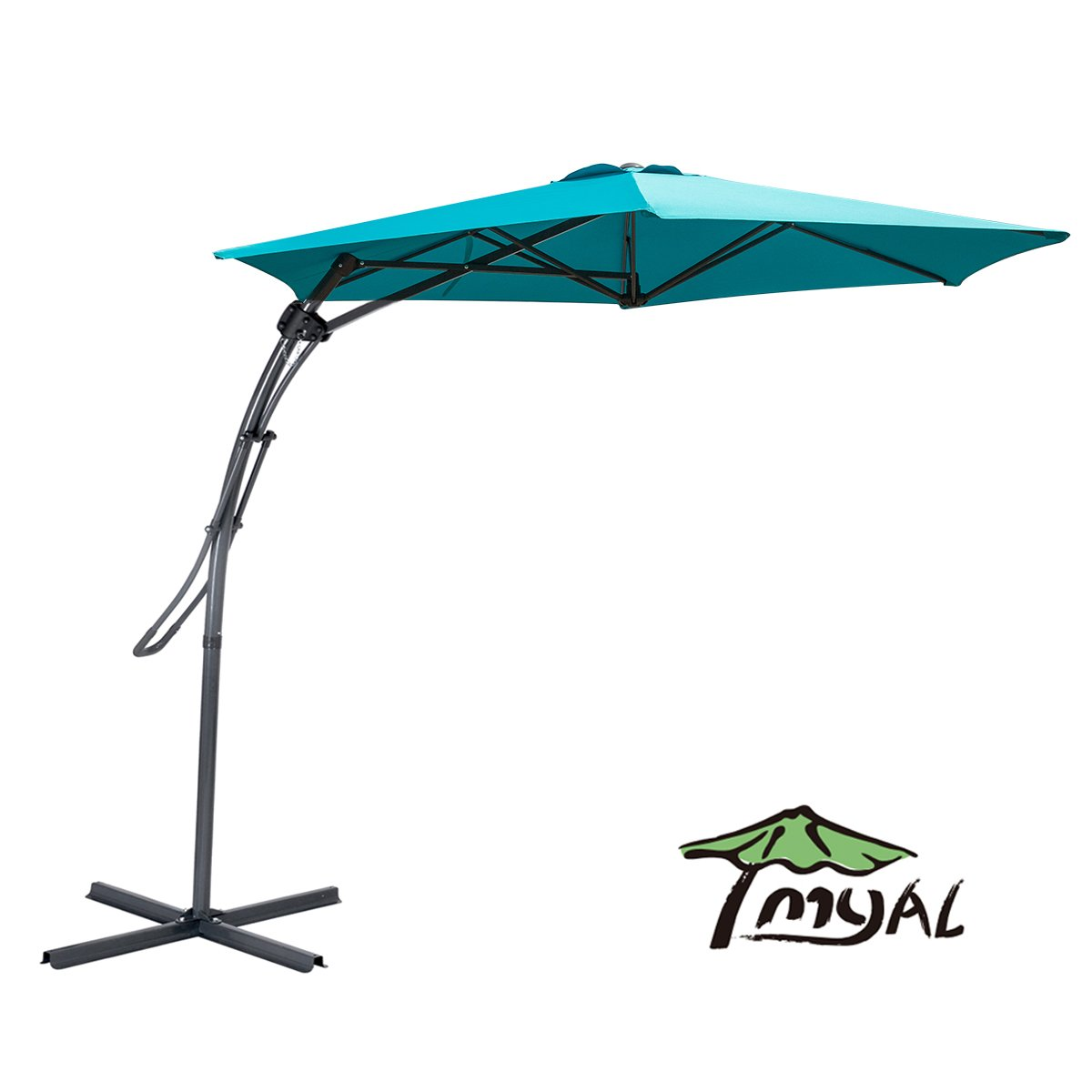 Get Quotations Myal 9ft Offset Patio Umbrella Outdoor Turquoise