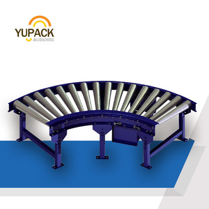 YUPACK Perfect design for power curve roller line/conveyor