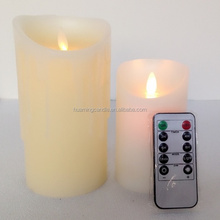 LED flameless dancing flame non drip battery operated taper candles