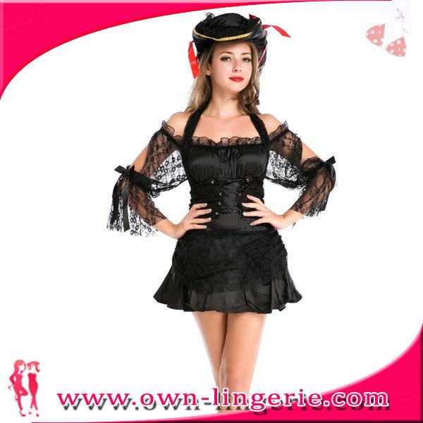 Costume Cher Pas Femmes Pirate Tache Sexy Halloween De Gros En Noir 4qT700