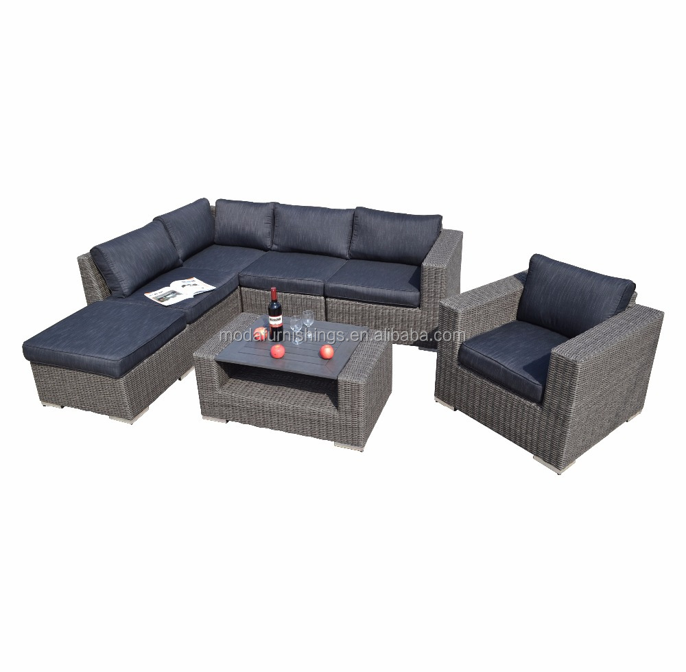 7pc Hot Sale All Weather Outdoor Wicker Patio And Garden Rattan