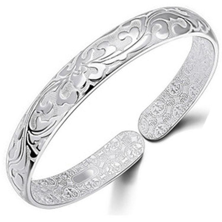 Buy Flower 925 Sterling Silver Cuff Wide Bangle Bracelet Wristband Women  Ethnic Vintage Women Luxury Hand Genuine Fine Jewelry in Cheap Price on  m.alibaba. ... f1456e3cd3