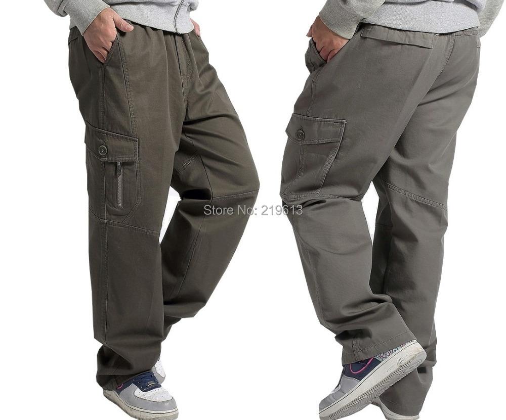 7eb3c1a6ca936 Get Quotations · 2015 new men cotton casual pants plus size cargo pants  men s big trousers oversized cargos Autumn