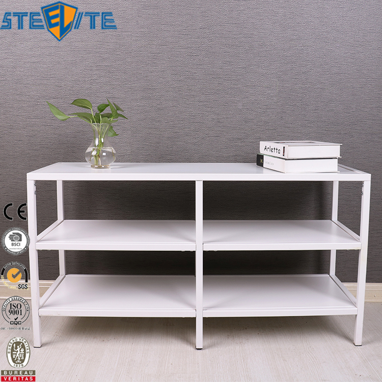 White Tube Furniture 3 Shelf Ladder Shelf Tv Stand Vittsjo Tv Shelf